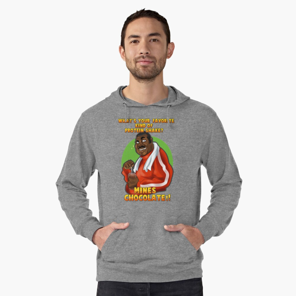 Punch-Out!! : Doc's protein shake Tee Lightweight Hoodie Front