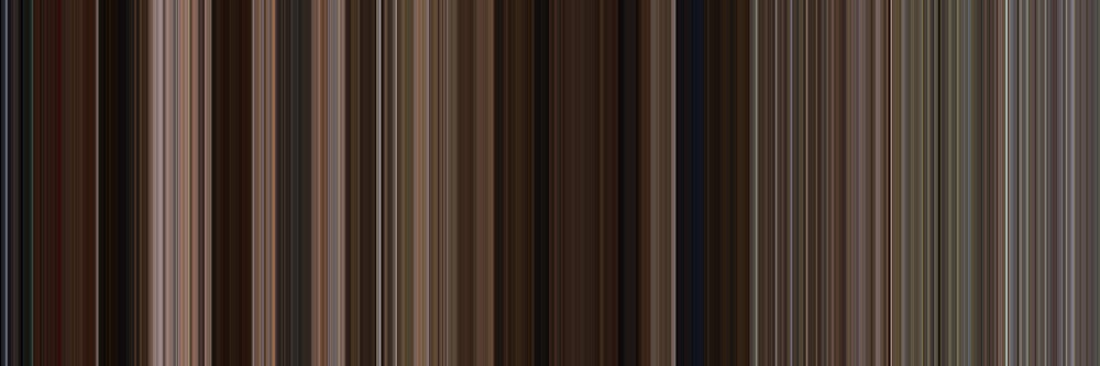 Moviebarcode: Back to the Future Part III (1990) [Simplified Colors] by moviebarcode