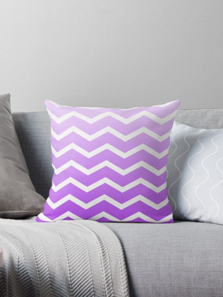 Lilac Ombre Fade Chevrons by ImageNugget