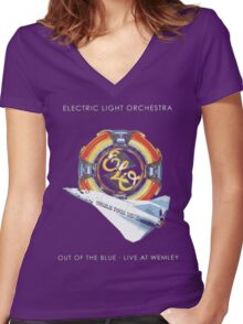 E.L.O. Live WEMLEY Women's Fitted V-Neck T-Shirt