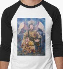 Fallen Soldier Angel Print Men's Baseball ¾ T-Shirt