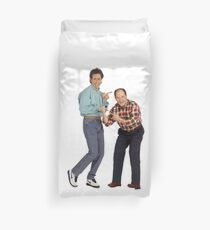 George and Jerry Duvet Cover