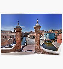 Comacchio Viewed by Trepponti Bridge Poster