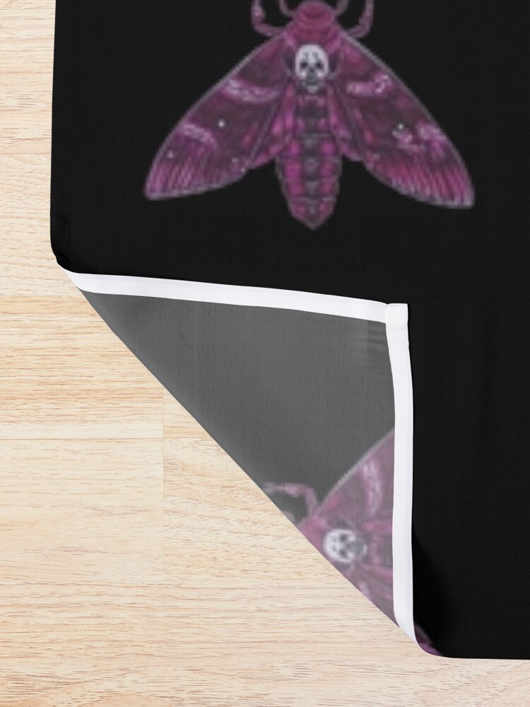 Alternate view of Pink Deathhead Moth Shower Curtain