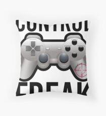 Control Freak Pun Video Game Controller Gamers Throw Pillow