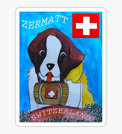 St Berbard Switzerland Sticker
