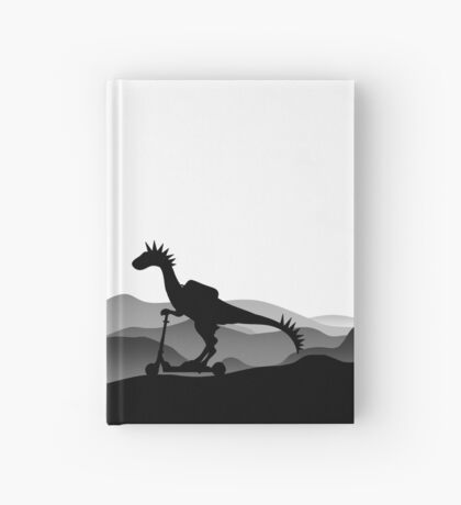DINO ON SCOOTER - DINOSAUR ON CHILD SCOOTER - Dino collection Hardcover Journal