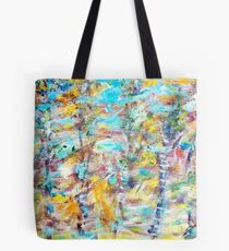 Birch Abstract Tote Bag
