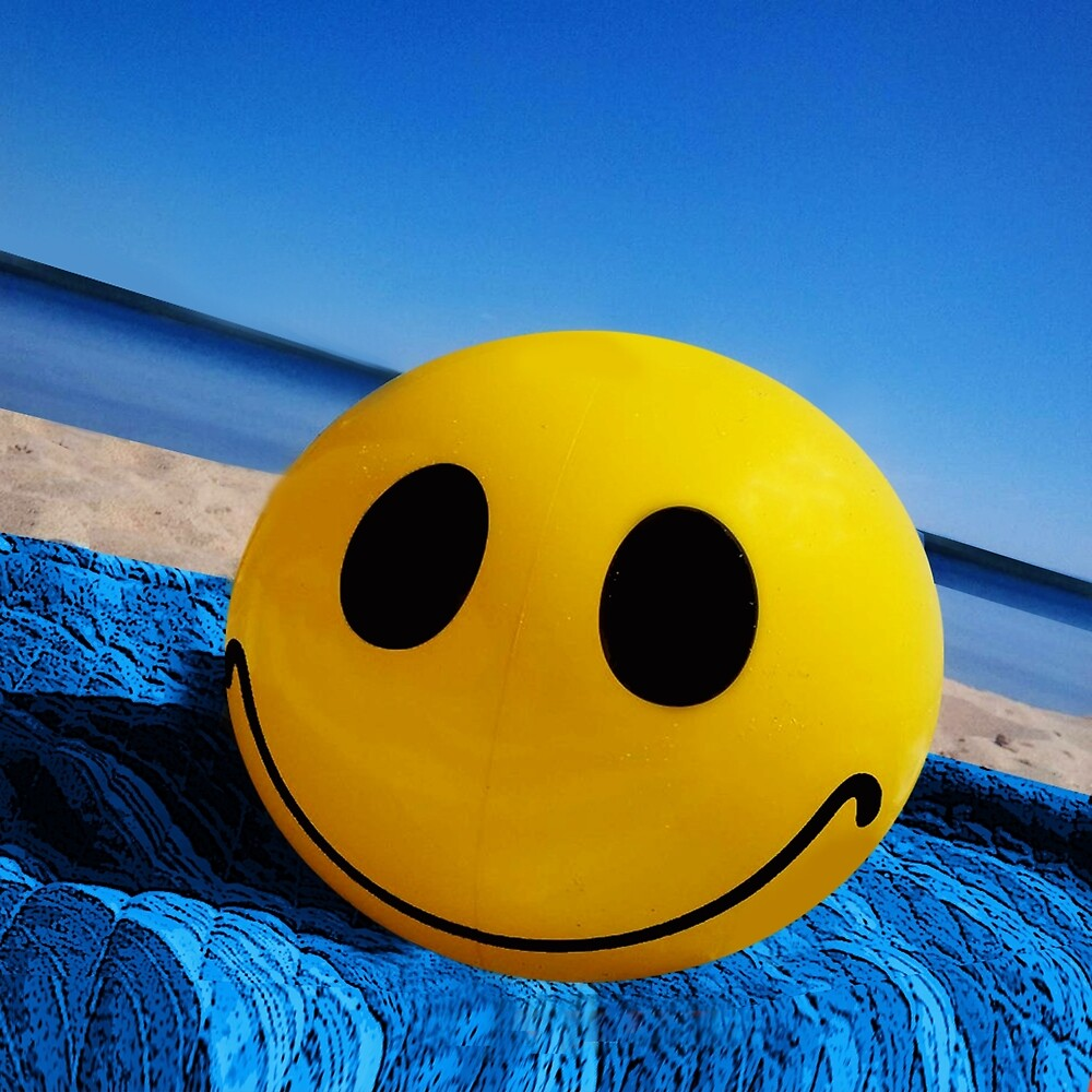 BEACH BLANKET SMILING BALL-PASS THE SMILES AROUND HUGS...PILLOW,TOTE BAG,SCARF,JOURNAL ECT. by ✿✿ Bonita ✿✿ ђєℓℓσ