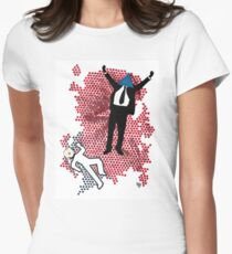 The ever triumphant triangle man Women's Fitted T-Shirt