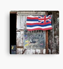 Military HQ. Happy To See You. Canvas Print