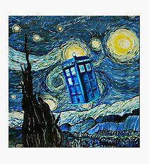 British Blue phone box painting Photographic Print