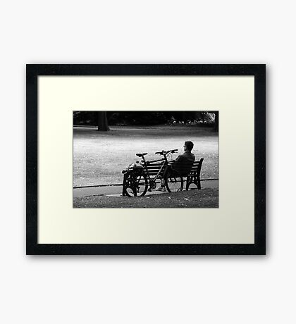 A Rest In the Park Framed Print