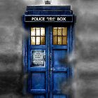 Haunted blue phone booth by Arief Rahman Hakeem
