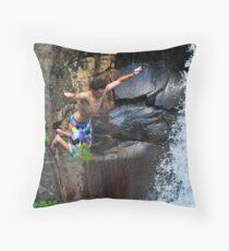 Smalls Falls Leap of Faith #3 Throw Pillow
