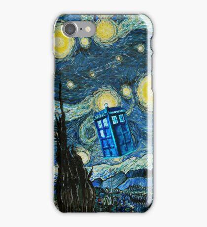 British Blue phone box painting iPhone Case/Skin