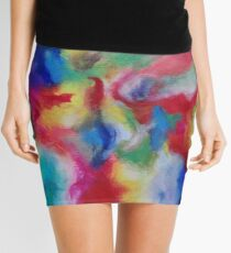 """Euphoria"" original abstract artwork by Laura Tozer Mini Skirt"