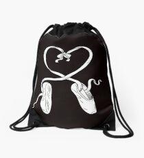 Ballet Shoes Ballet Dancer Heart Valentines Day Drawstring Bag