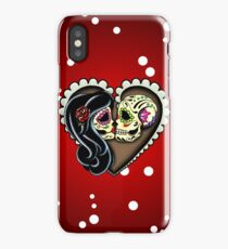 Ashes - Day of the Dead Couple - Sugar Skull Lovers iPhone Case