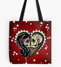 Ashes - Day of the Dead Couple - Sugar Skull Lovers Tote Bag