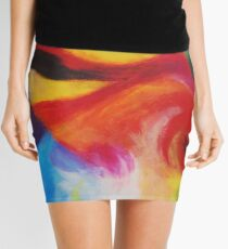 """Fiesta Nocturna"" original abstract landscape by Laura Tozer Mini Skirt"