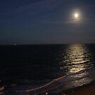 full moon over Virginia Beach by katpartridge
