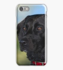 Black Lab - Dog Portrait iPhone Case/Skin
