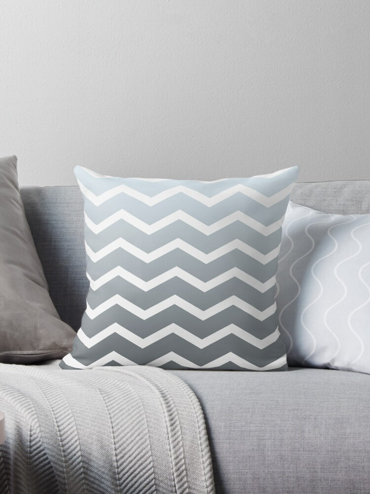 CoolGrey Ombre Fade Chevrons by ImageNugget