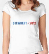 Stewbert 2012 Red/Blue A Women's Fitted Scoop T-Shirt