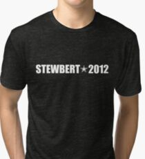 Stewbert 2012 White A Tri-blend T-Shirt