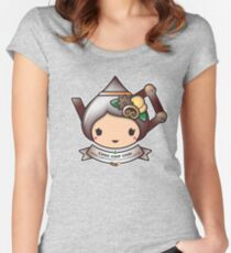 Choc Chip Chai Teapot Women's Fitted Scoop T-Shirt