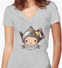 Choc Chip Chai Teapot Women's Fitted V-Neck T-Shirt