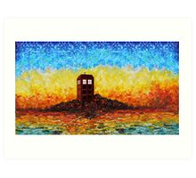 Time travel Phone booth in the Twilight zone art painting Art Print