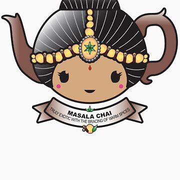 Masala Chai Teapot by BubbleDoll