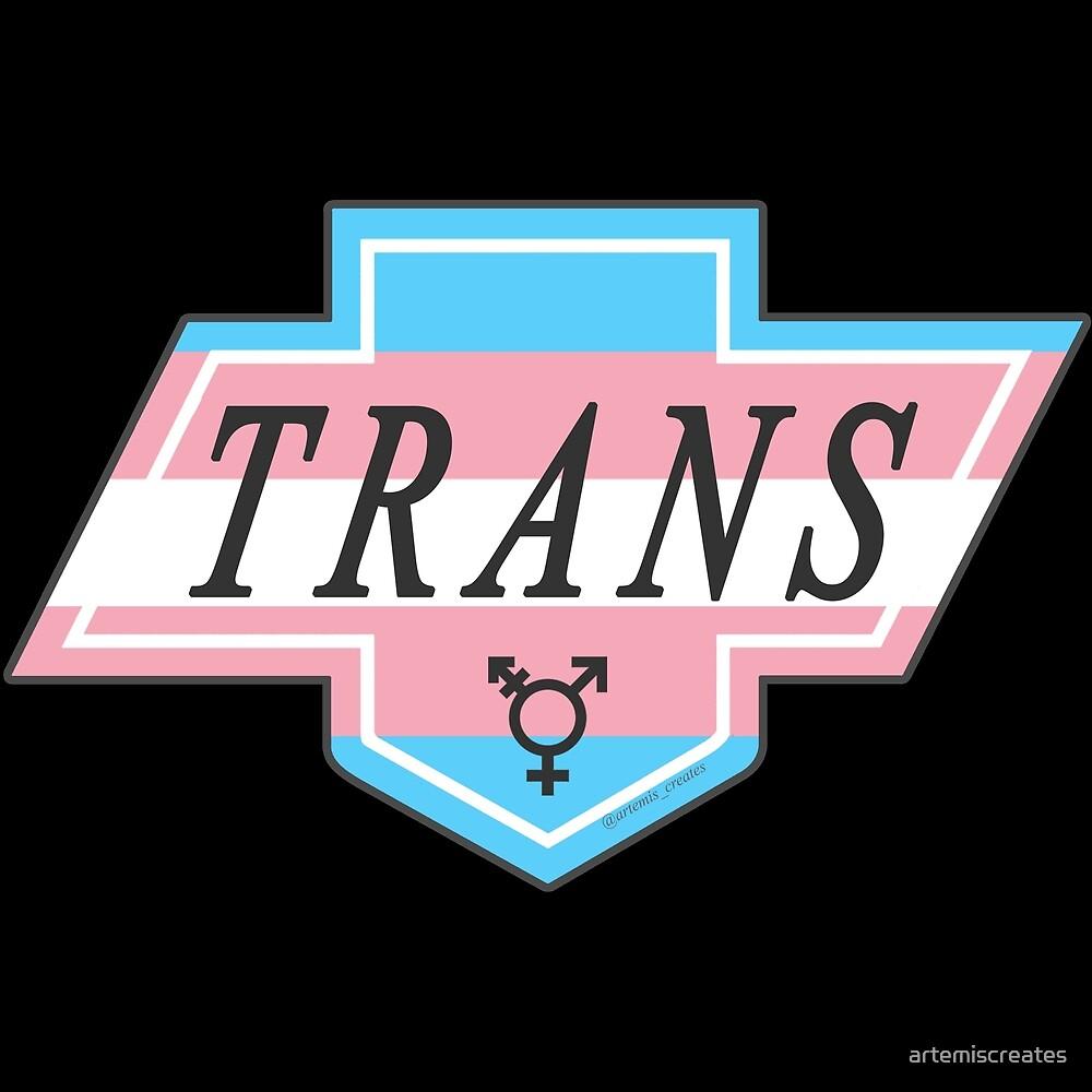 Identity Badge: Transgender by artemiscreates