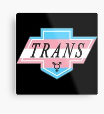 Identity Badge: Transgender Metal Print