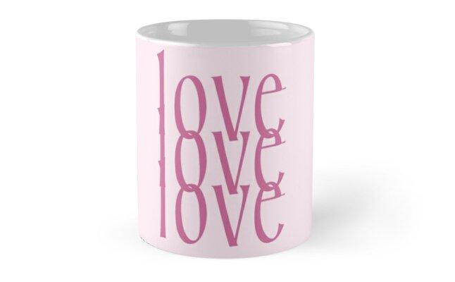 Love Love Love Interlocking Letters by Greenbaby