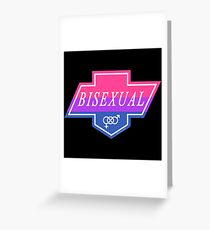 Identity Badge: Bisexual Greeting Card