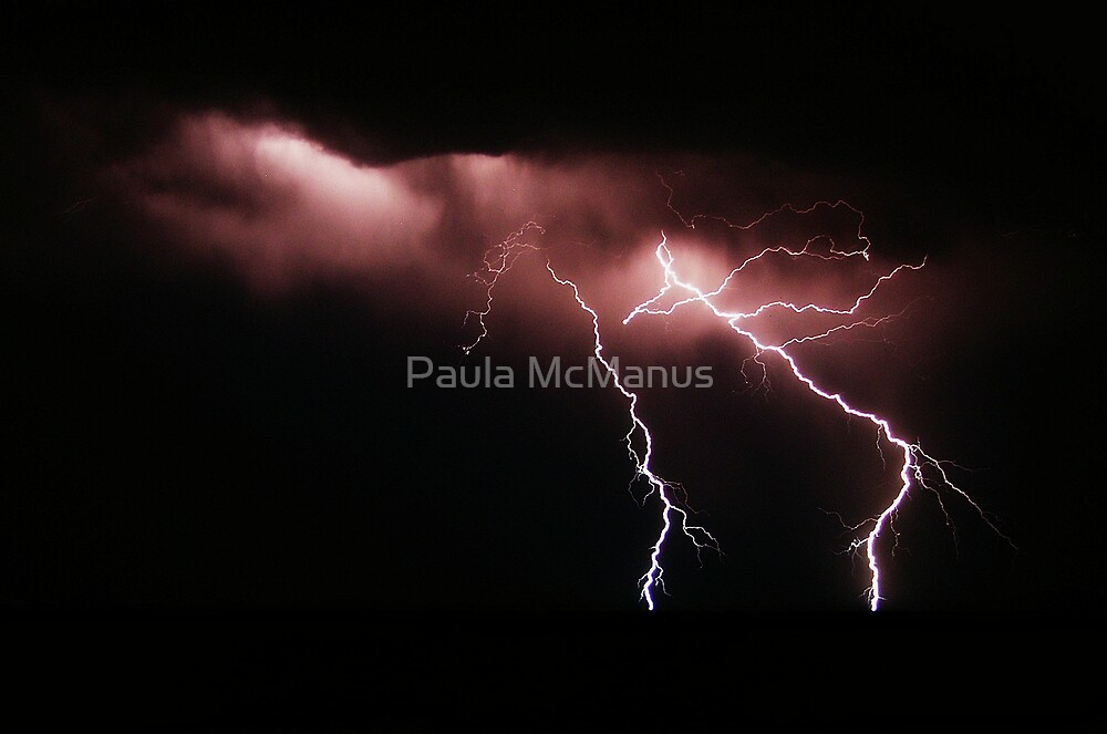 Lightning over West Beach by Paula McManus
