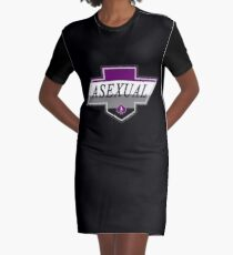 Identity Badge: Asexual Graphic T-Shirt Dress