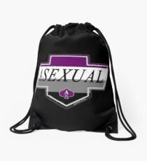 Identity Badge: Asexual Drawstring Bag