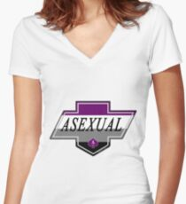 Identity Badge: Asexual Fitted V-Neck T-Shirt