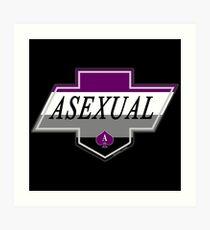 Identity Badge: Asexual Art Print