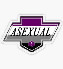 Identity Badge: Asexual Transparent Sticker