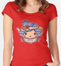 Girlie Grey Teapot Women's Fitted Scoop T-Shirt