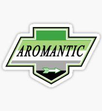 Identity Badge: Aromantic Sticker