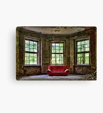 Red Sofa Canvas Print