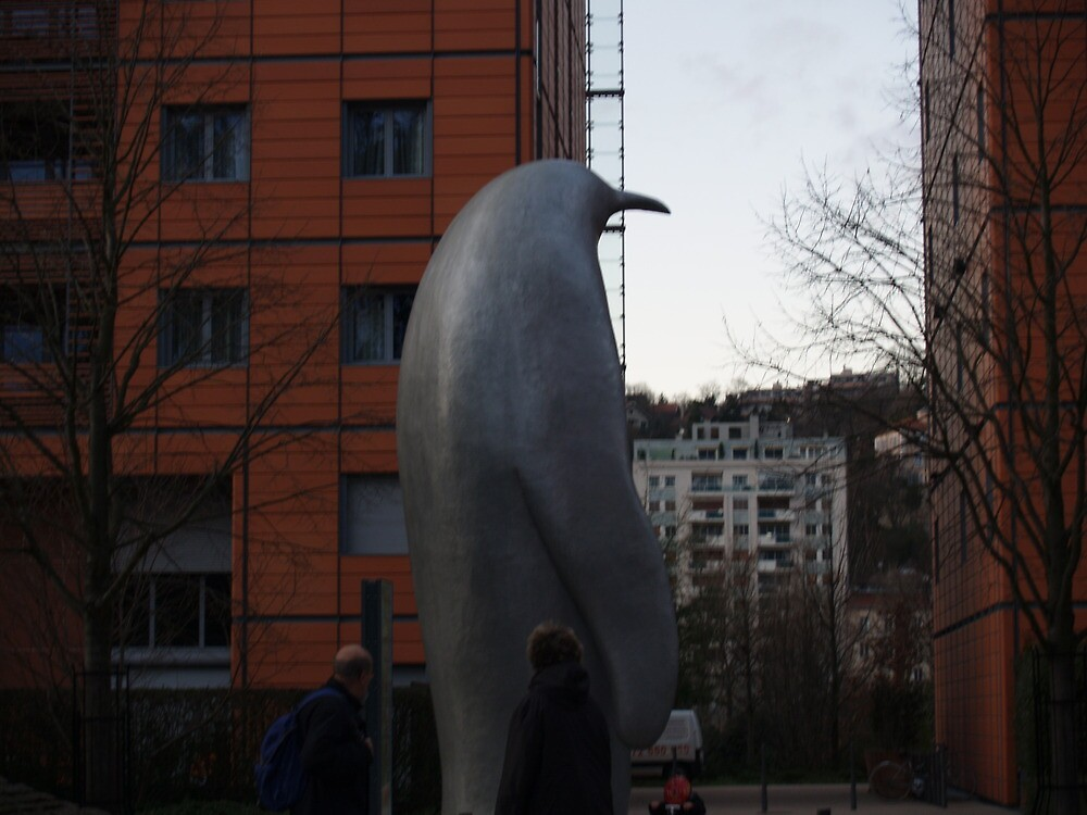 Giant stone penguin by PeterFrost