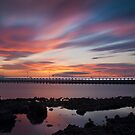 Amble Sunset Poster by Philip  Whittaker