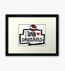 I Love Sneakers Chicago Framed Print